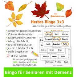 Herbst-Bingo 3x3 für...