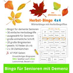 Herbst-Bingo 4x4 für...