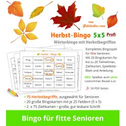 Herbst-Bingo 5x5 Profi für...