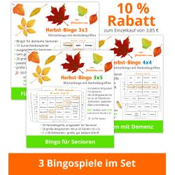 3 Herbst-Bingos im Set