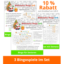 3 Weihnachts-Bingos im Set