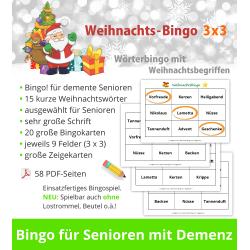 Weihnachts-Bingo 3x3 für...
