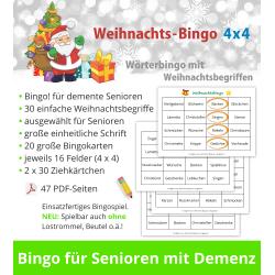 Weihnachts-Bingo 4x4 für...