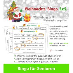 Weihnachts-Bingo 5x5 für...