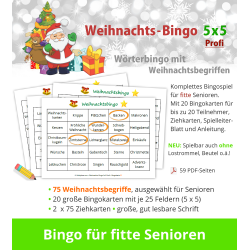 Weihnachts-Bingo 5x5 Profi...