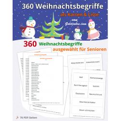 360 Weihnachtsbegriffe für...