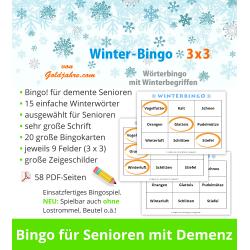 Winter-Bingo 3x3 für...