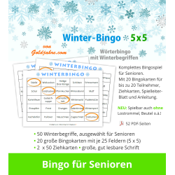 Winter-Bingo 5x5 für Senioren
