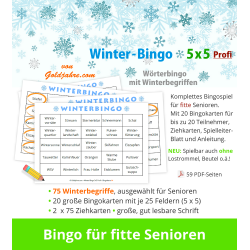 Winter-Bingo 5x5 Profi für...