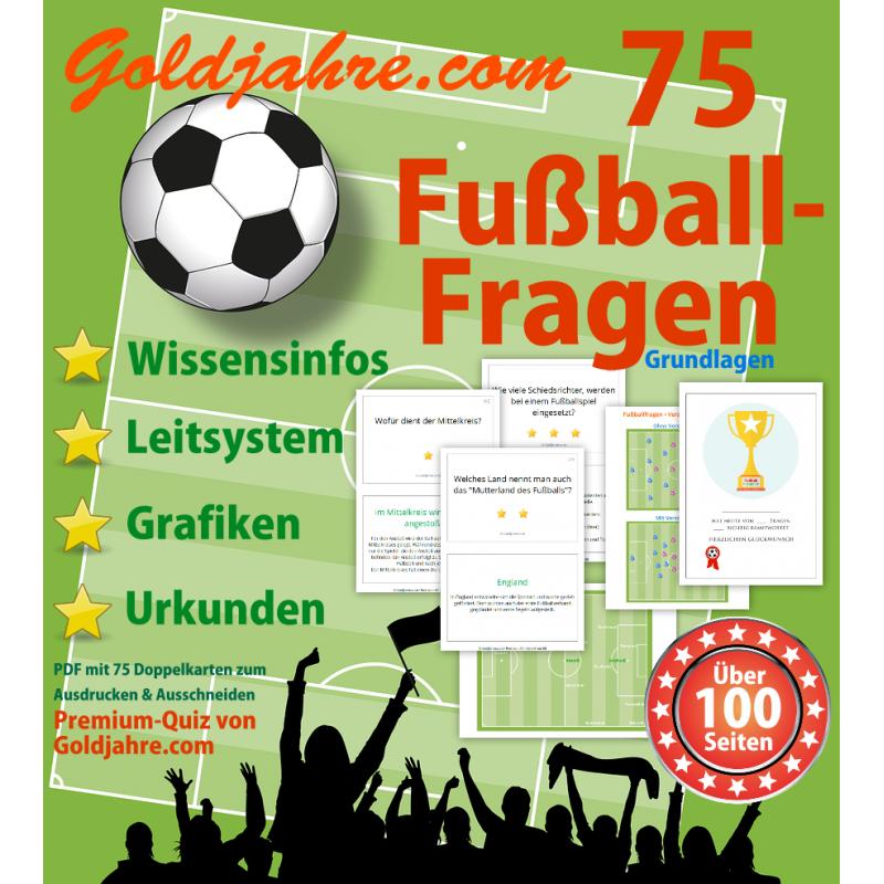 75 Fußballfragen   Quiz mit vielen Extras
